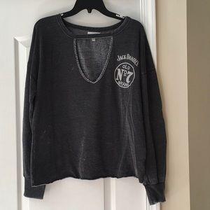 Lucky distressed Sweatshirt! Sz L